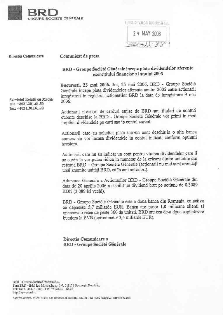 AGF :: BRD - BRD - Groupe Societe Generale - Bucuresti